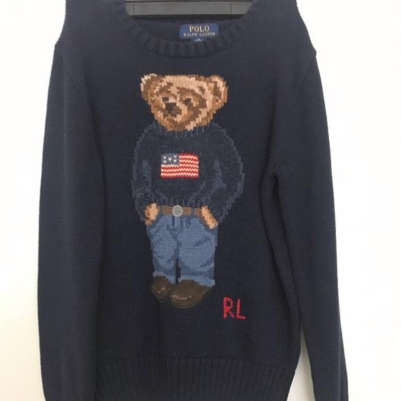 cf4cdb0d2590 Polo Bear Cotton Sweater. M 5c4a65090cb5aa505c7d6c28